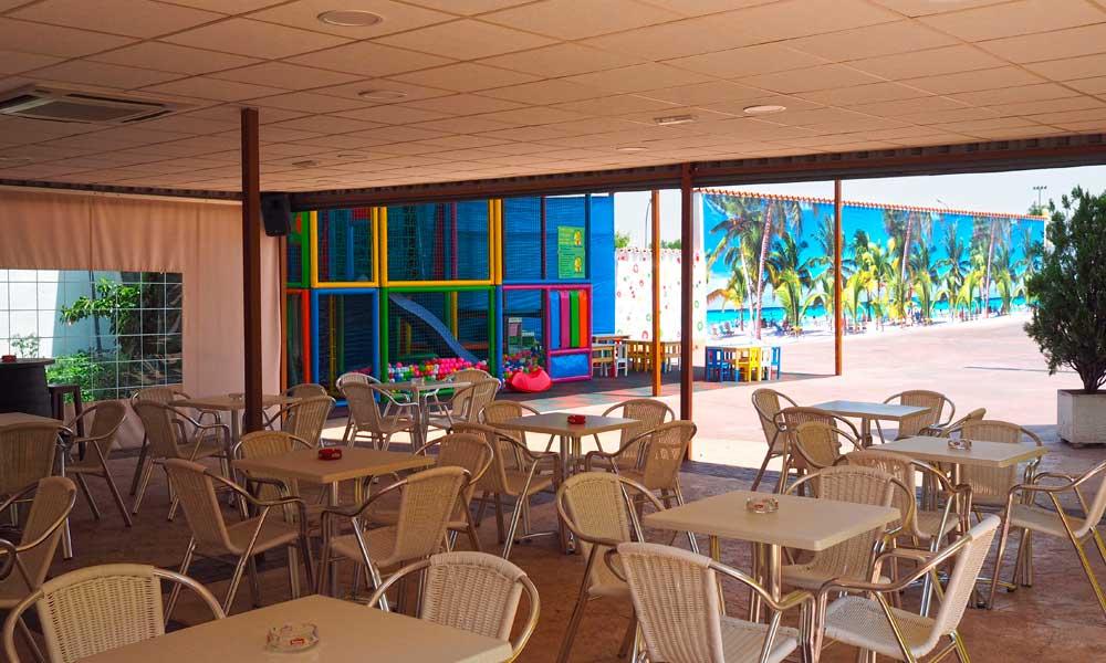 Parque infantil para restaurante