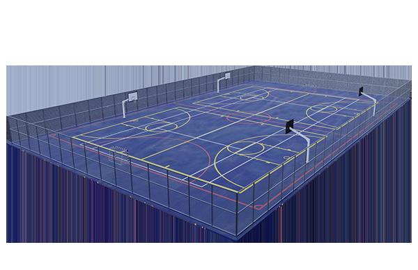 construcción de pistas polideportivas