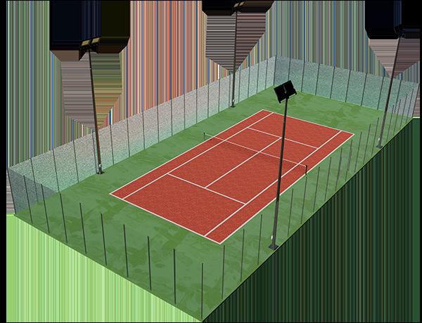 se trata de una pista de tenis para exterior