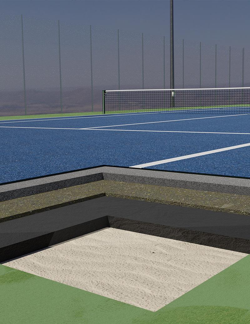 medidas de un pista de tenis