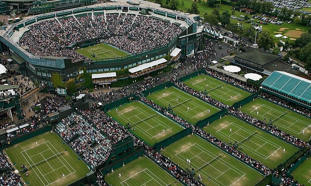 Las pistas de Wimbledon