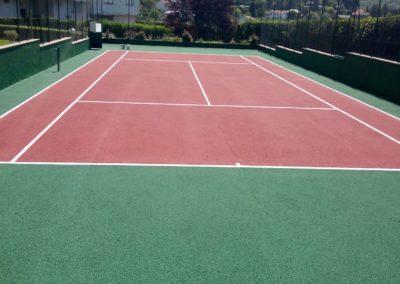 convervacion de pista de tenis en cercedilla de madrid
