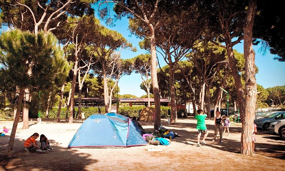 Camping con pista de pádel