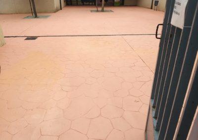 pavimento colegio barcelona