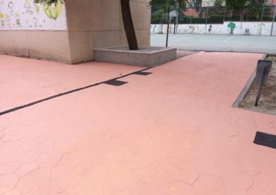 pavimento y suelo colegio barcelona