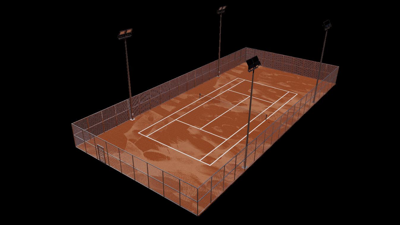 la instalacion de pista de tenis de tierra batida posee las siguientes ventajas