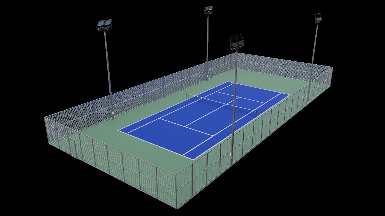 la pista de tenis sobre asfalto con mapecoat tns