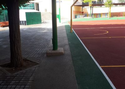 pavimento poroso en colegio sanse