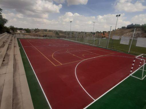 Limpieza pista polideportiva Belmonte